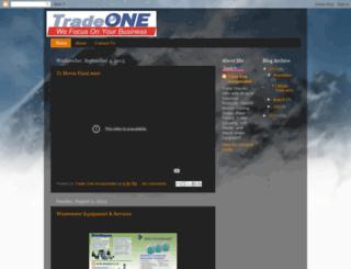 tradeoneinc.blogspot.com screenshot