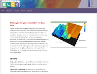tradingblox.com screenshot
