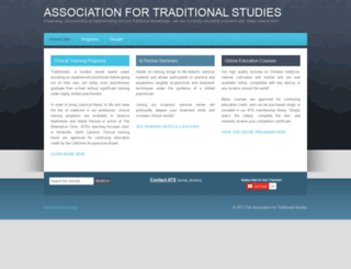 traditionalstudies.org screenshot