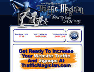 trafficmagician.com screenshot