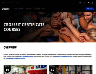 training.crossfit.com screenshot