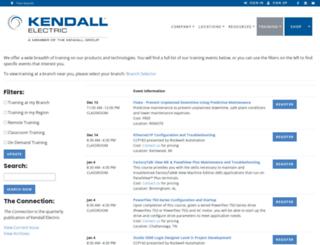 training.kendallelectric.com screenshot