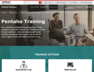 training.pentaho.com screenshot