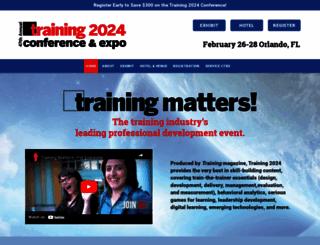 trainingconference.com screenshot