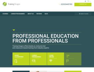 trainingdragon.co.uk screenshot