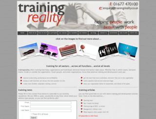 trainingreality.co.uk screenshot