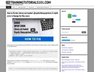 trainingtutorials101.com screenshot