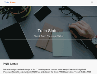 trainstatus.co.in screenshot