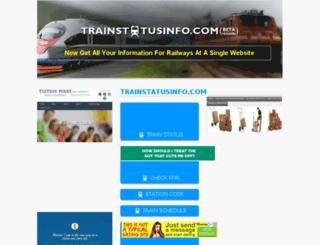 trainstatusinfo.com screenshot