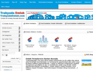 trakyadaemlak.com screenshot