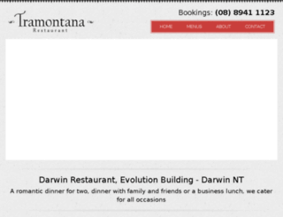 tramontana.darwinwebdesign.com.au screenshot