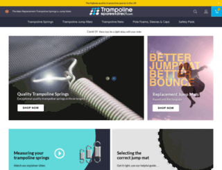 trampolinesparesdirect.com screenshot
