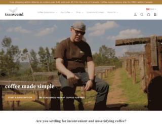 transcendcoffee.ca screenshot