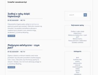 transfer-snowboard.pl screenshot