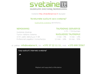 transferservice.lt screenshot