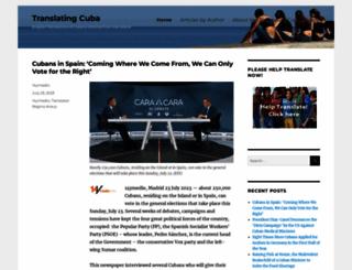 translatingcuba.com screenshot