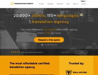 translationagency.com screenshot