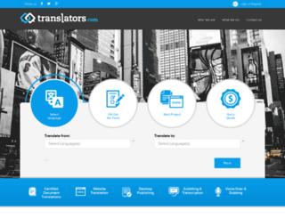 translators.com screenshot