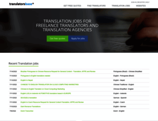 translatorsbase.com screenshot