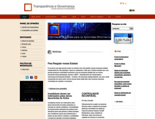 transparenciaegovernanca.com.br screenshot