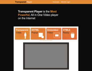 transparentplayer.com screenshot
