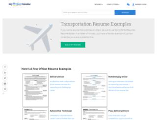 transportationmyperfectresumecom screenshot