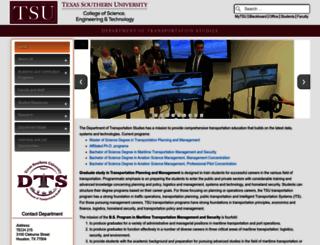 transportation.tsu.edu screenshot