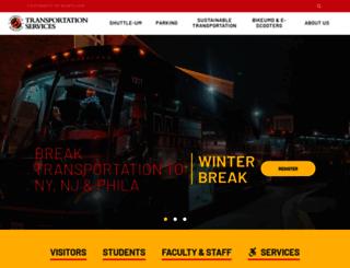 transportation.umd.edu screenshot