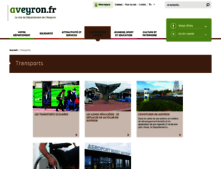 transports.aveyron.fr screenshot