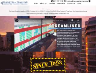 transvaaltraining.co.za screenshot