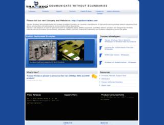 tranzeo.com screenshot