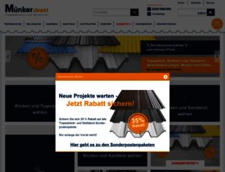 trapezblech-muenker.com screenshot