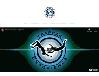 trapeze-experience.com screenshot