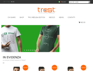 trastclothingstores.com screenshot