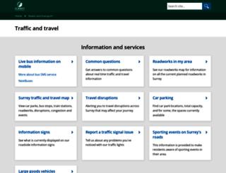 travel.surreycc.gov.uk screenshot