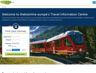 travel.thetrainline-europe.com screenshot