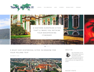 travelasiseeit.com screenshot