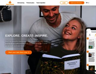 traveldiariesapp.com screenshot