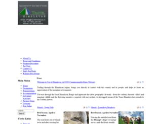 travelhimalayas.in screenshot