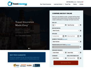 travelinsurance.com screenshot