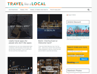 travellikealocal.org screenshot