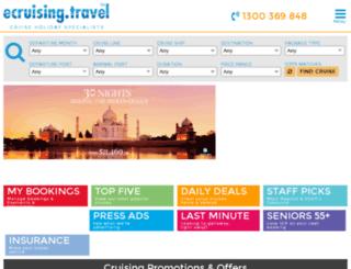 travelocity-india.cruiseagents.travel screenshot