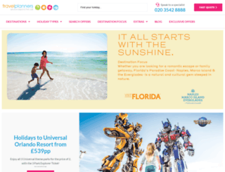 travelplanners.co.uk screenshot