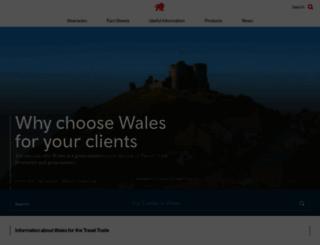 traveltrade.visitwales.com screenshot