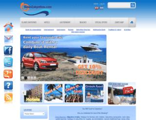 travelzakynthos.com screenshot