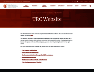 trc.ca screenshot