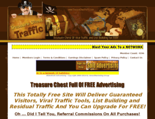 treasurechesttraffic.com screenshot