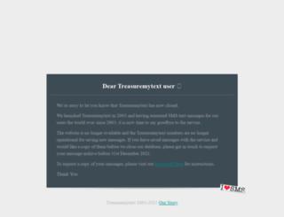 treasuremytext.com screenshot