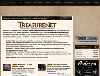 treasurenet.com screenshot