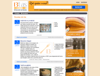 trecetas.com screenshot